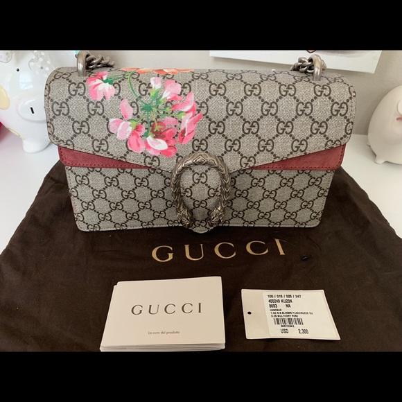 75bf39d403e Gucci Handbags - NEW authentic Dionysus GG Blooms shoulder bag